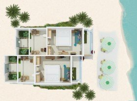 Deluxe Beach Villa (52 m²)