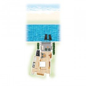 Swim-Up Room (50 m²)