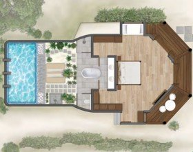 Beach Villa with Private pool (130 m2)