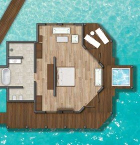 Water Villa with plunge pool (150 m2)