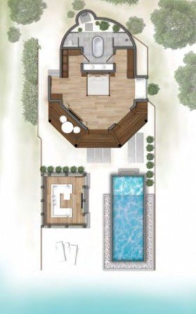 Beach Suite with Infinity pool (od 1.11.2019) (150 m2)