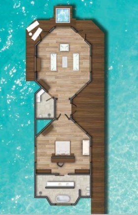 Water Suite with Plunge pool (270 m2)