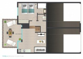 1 - 4 guests Apartment (78,5 m²)