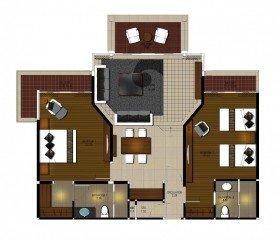 Two-bedroom Island Suite
