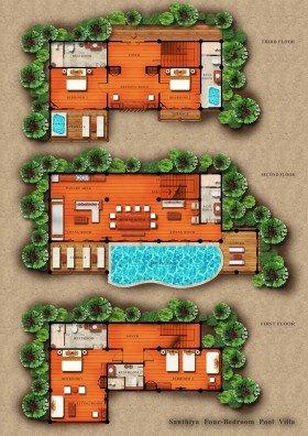 Four Bedroom Pool Villa