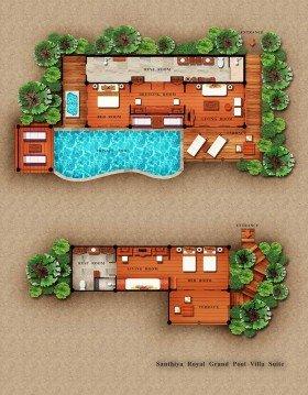 Two Bedroom Seawater Pool Villa