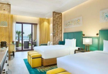 Two Queen Bed Bay Club Room with Beach Access