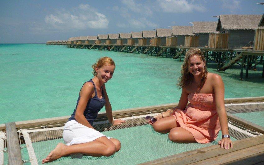 Foto z cesty na Maledivy, 2015 - K. Borutová a V. Mračnová